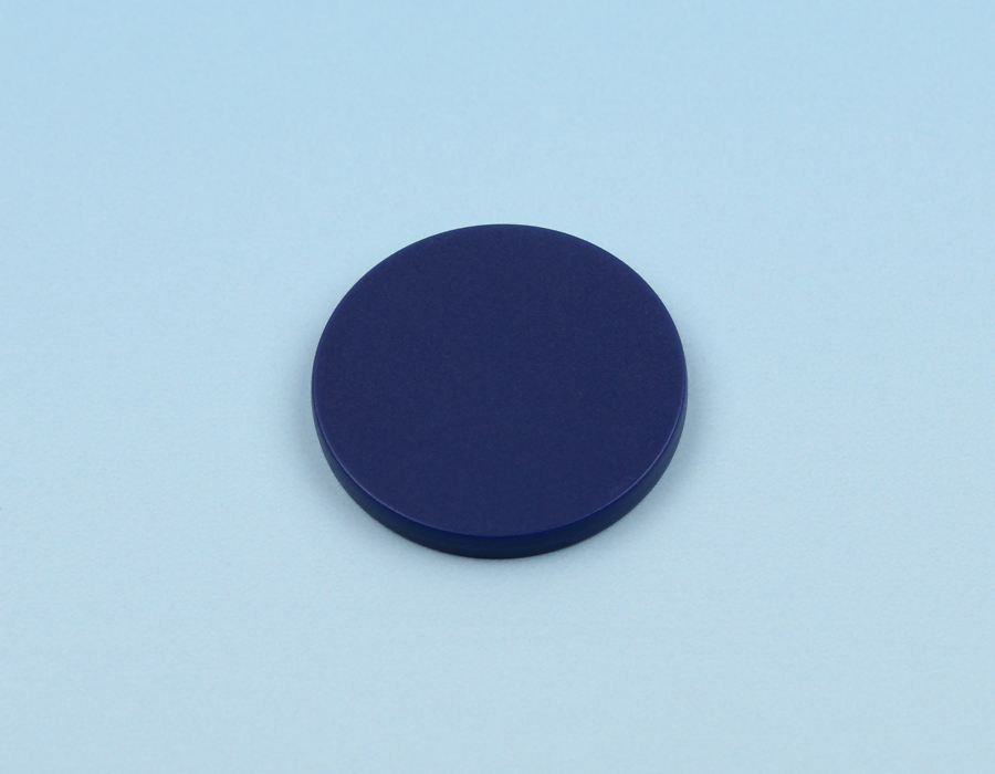 Disc tag plastic, blue