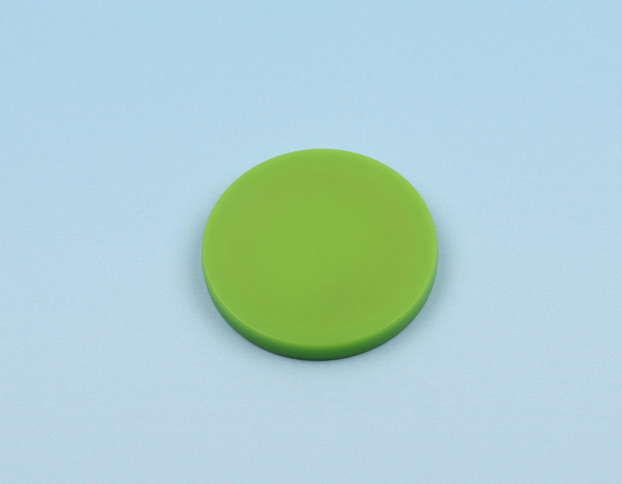 Disc tag plastic, green