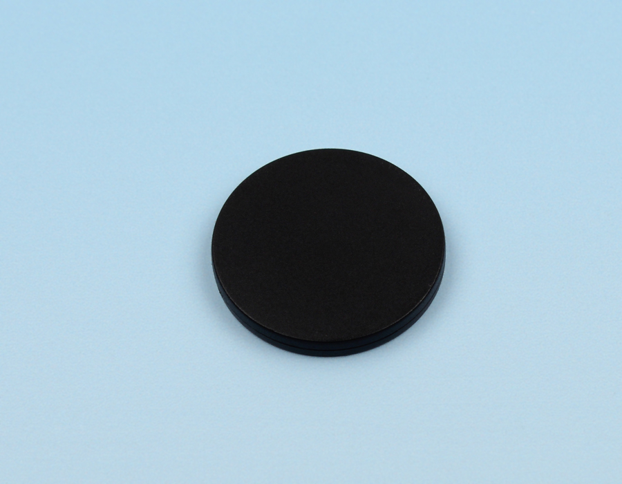 Disc tag plastic, black