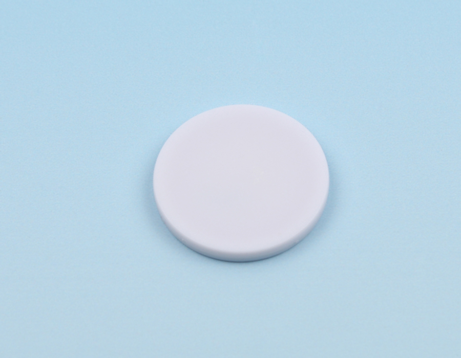 Disc tag plastic, white