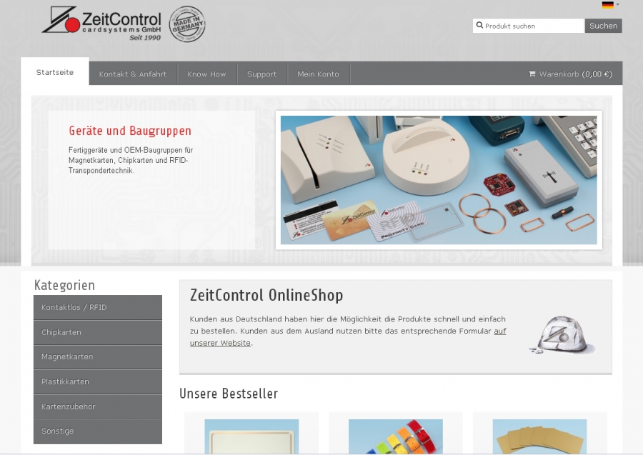 New online shop cardsystems gmbh for Good sites to shop online