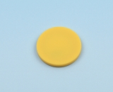 Disc tag plastic, yellow