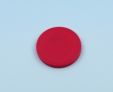 Disc tag plastic, red
